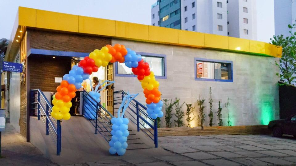 Fachada do nosso buffet infantil e salão de festas Festa e Cia em BH